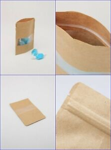 Paper Bag With Window & Easy Tear Pack 12 Shop Sweets Loot Gift Treat Craft Fair