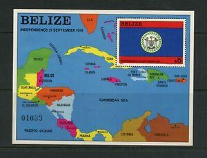G013 Bélize 1982 Flags Cartes Feuille MNH
