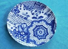 Pier 1 Imports Blue Hare Dinner Plate - Floral Rabbit Bunny Flowers Blue White