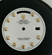 Rolex Factory White Bezel Set Diamond Dial For Day Date Crown Collection Watch