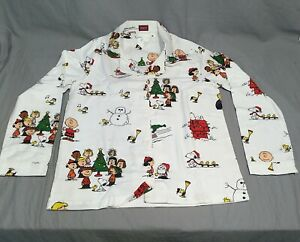 Pottery Barn PB Teen Peanuts Flannel Snoopy Medium Pajama Set