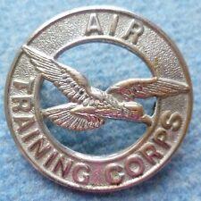 Badge- Air Training Corps Cap Badge,  A.T.C. Badge (White metal)