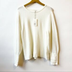 NWT Target A New Day Cream Knit Sweater Pullover Cream Women's Size XL