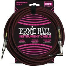Ernie Ball 6062 Cavo Braided Black/Red 7,6 m