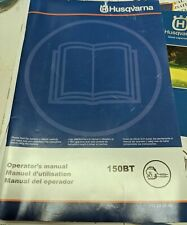 Husqvarna 150BT Gas Backpack Blower Owners manual ONLY.