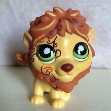 Littlest Pet #944 Tattoo Safari LION Tan Brown POSTCARD with GREEN Eyes  6 pics