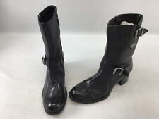 Harley Davidson Black Mid Calf Boots Size 7M  H1030/