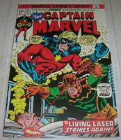 CAPTAIN MARVEL #35 (Marvel Comics 1974) ANT-MAN ANNIHILUS LIVING LASER app (VF-)