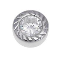 Kettenanhänger echt Silber 925 Sterling rhodiniert Diamonique Damen Anhänger