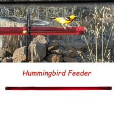 Red Berries Hummingbird Feeder 40cm With Hole Birds Feeding Pipes Easy To Use