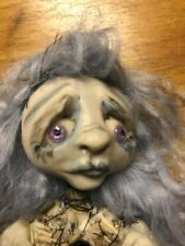 Lulu Lancaster Cora the corpse Doll, creepy, gothic, blue, OOAK
