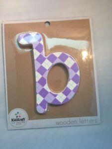 """Kidkraft Wooden Purple Letters  8"""" Lower Case Wall Decor """"b"""""""
