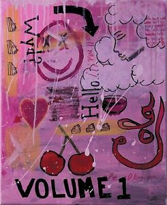 """""""Volume 1"""" 16x20in Original Acrylic Painting On Canvas"""