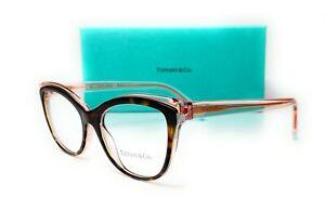 Tiffany & co. TF2192 8287 Havana Transparent Pink Women Eyeglasses 54mm