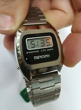 Orologio nos vintage raro lcd anni '70 Mercury by Jungfrau montre swiss made
