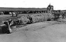 WW2 Picture Photo Japanese Tpe A midget submarine I-22 sunk by US destroyer 1310
