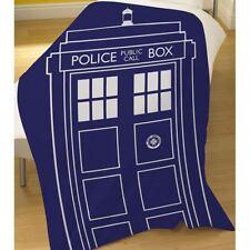 DOCTOR WHO TARDIS SOFT FLEECE BLANKET CHILDRENS 100cm x 150cm