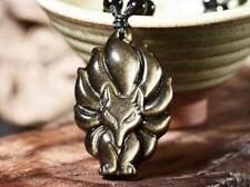 Good luck Gold obsidian stone  Amulet fox charm pendant