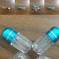 New Plastic Pill Box Case Holder Metal Capsule Bottle Travel  Medicine Container