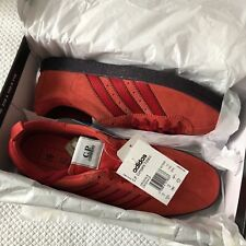 BRAND NEW ADIDAS ORIGINALS CP COMPANY TOBACCO RED SUEDE TRAINERS BD7959 - UK 10