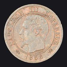 France : 1 Centime 1856B / Napoléon III tête nue / Rouen :(franco de port)