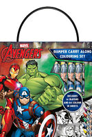 Marvel Avengers Bumper Carry Along Colouring Set Crayons Travel Acivity Kids