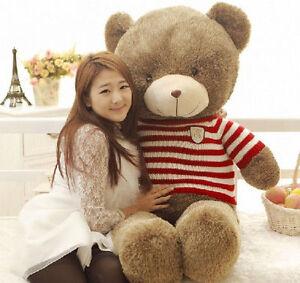Hot 80CM Giant Huge Big Teddy Bear Stuffed Animals Plush Soft Toy Christmas Doll
