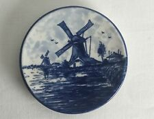 10cm Diameter Delft Blauw Handpainted Made in Holland Hangable Plate Plaque