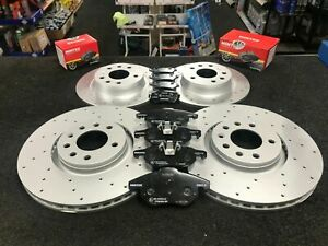 FOR VAUXHALL VECTRA C VXR FRONT REAR DRILLED BRAKE DISCS PADS