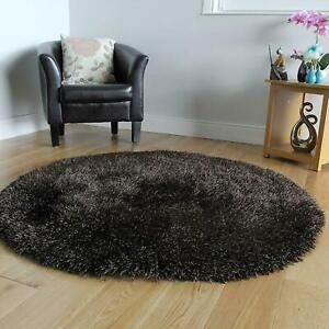 Round Shaggy Fluffy Rug (Polyester & Polyester Blend, 3 x 3 Feet)