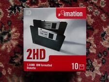 "10 St. 2HD High Density 1,44 MB IBM Formatted 3 1/2 "" Disketten Imation Neu OVP"