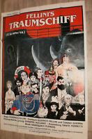 A0 Filmplakat FELLINI'S TRAUMSCHIFF - E LA NAVE VA ,FREDERICO FELLINI