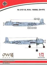 Owl Decals 1/72 HEINKEL He-219V-8 Night Fighter