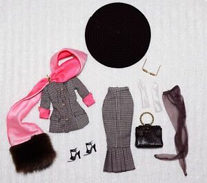 Custom Made Brown Plaid Outfit For 11-12.5 in Fashion Dolls