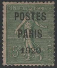 "FRANCE STAMP TIMBRE PREOBLITERE 25 "" SEMEUSE POSTES PARIS 1920"" NEUF (x) TB J357"