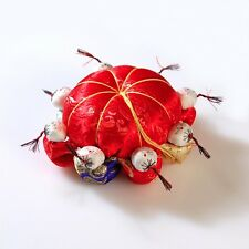 NEW Handmade Oriental Red Pincushion Sewing Notions Pin Cushion Asian Art Craft
