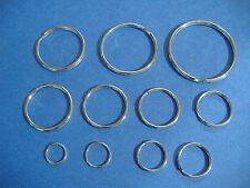 LOT OF ELEVEN ASSORTED SIZES SPLIT KEY RING ASSORTMENT HIGH QUALITY RINGS