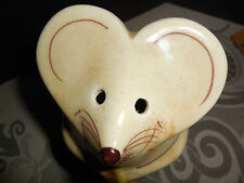 Parmesan Cheese Shaker Mouse HOLDING A PIECE OF CHEESE, hand painted