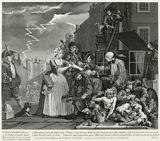 Hogarth Print Reproduction: A Rake's Progress: Arrested, Plate 4: Fine Art Print