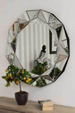 Modern Silver Round Venetian Wall Mounted Mirror 3Ft 90cm