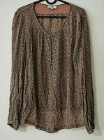 NOA NOA Chiffon Bluse Gemustert Tunika Shirt Gr. L Neuwertig    #LRZ1206