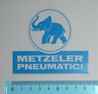 ADESIVO STICKER VINTAGE AUTOCOLLANT METZELER PNEUMATICI ANNI '80 8x7 cm