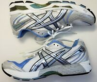 Asics Gel Kayano 13 Women's White Blue Silver Running Athletic Shoes Size 9M