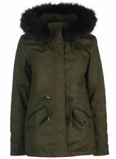 FIRETRAP Petie Parka Green Hooded Coat Jacket Pocket Ladies Size UK 12  *REF98