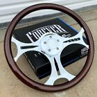 18 Steering Wheel Chrome Ammo Spokes And Dark Wood Grip - Factory Second