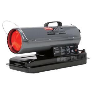 Kerosene Heater 50K BTU Forced Air Automatic Shutoff Dial Outdoor Steel Gray
