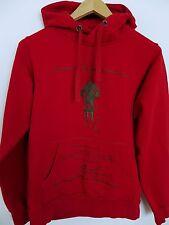 JN943 Men Bergans Of Norway Amundsen Red CottonElastane Hooded Hoodie Size M