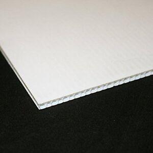 4mm White Correx Fluted Corrugated Plastic Sheet 15 SIZES TO CHOOSE