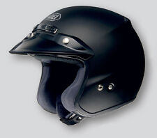 02-695 - SHOEI RJ PLATINUM-R OPEN FACE MATTE BLACK 3XL HELMET