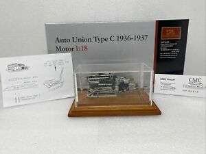 1/18 CMC 1938 Auto Union Type C Motor in display case Part # M-034B
